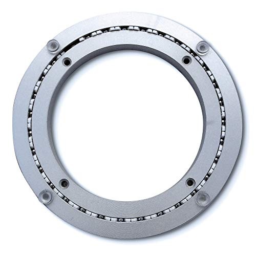 Heavy-Duty Aluminum Lazy Susan Ring/Turntable with Single-Row Ball Bearings for Heavy Loads, -