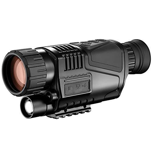 Mhwlai Digital Single-Tube Night Vision Device, Infrared Digital Night Vision Device, Low-Light HD Night Vision Telescope Outdoor Video
