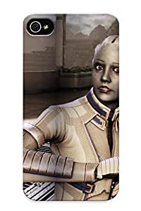 New FWbHaVR2573PGHLM Mass Effect Scifi Cyborg Skin Case Cover Shatterproof Case For Iphone 4/4s