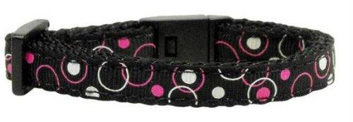 Retro Nylon Ribbon Collar Black Cat Safety Case Pack 24 Retro Nylon Ribbon Co...
