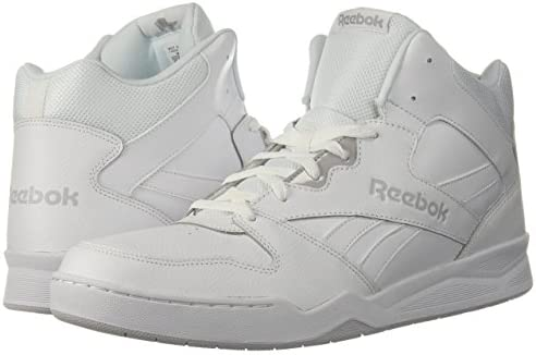 Reebok Men's BB4500 Hi 2 Sneaker, White/Light Solid Grey, 10    Reebok Men's Royal Bb4500 Hi2 Sneaker helps you show your respect for the game while keeping classic, everyday style on point. These mid-cut, basketball-inspired men's shoes are sure to be an instant favorite, with a blended leather and mesh upper weighing in for heritage comfort. Plus, a removable sockliner helps keep feet happy all day long. ImportedRubber soleShaft measures approximately mid-top from archDURABLE AND LIGHTWEIGHT MATERIAL: These game sneakers feature leather and mesh upper for a blend of support and breathabilityEFFICIENT FOOT SUPPORT: These stylish trainers feature high abrasion rubber outsole adds durable responsiveness and lasts many jogs and gamesREMOVABLE ORTHOTICS INSERT: This footwear features removable EVA sockliner accommodates orthotics and offers cushion