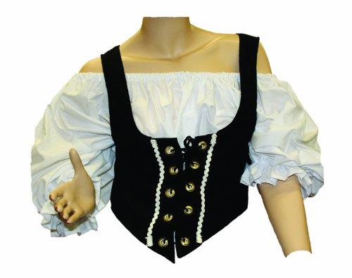 (Alexanders Costumes Women's Female Renaissance Vest, Black,)