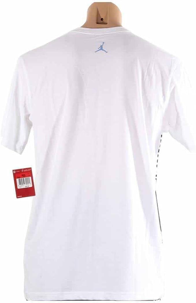 Jordan Mens Air AJXI Zig Zag Pocket T-Shirt White Red Black
