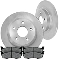 [ Pickup SUV Series ] REAR 285 mm Premium OE 5 Lug [2] Brake Disc Rotors + [4] Metallic Brake Pads
