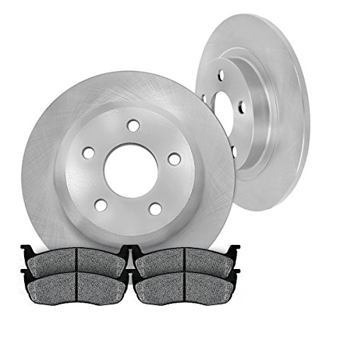 2 Brake Rear Mazda (REAR 280 mm Premium OE 5 Lug [2] Brake Disc Rotors + [4] Metallic Brake Pads)