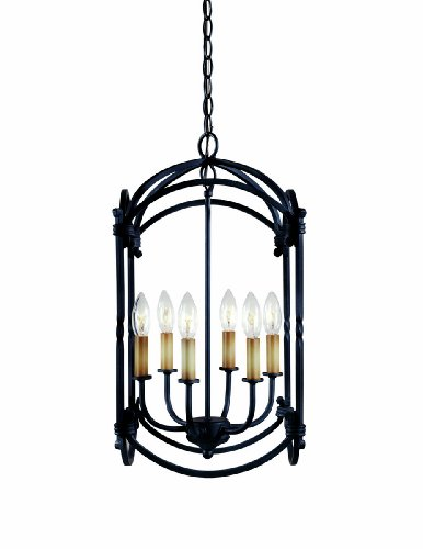 World Imports 61408-42 Hastings Collection 6-Light Hanging Lantern, Rust