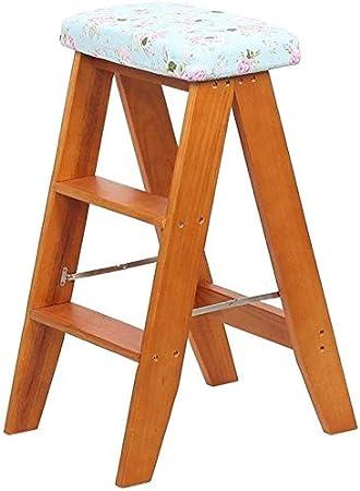 XIN Escaleras multiusos para niños Taburete de pie Taburete alto multifuncional Silla plegable de escalera Taburete portátil de madera maciza Taburete de escalada para el hogar Sala de estar Taburete: Amazon.es: Bricolaje