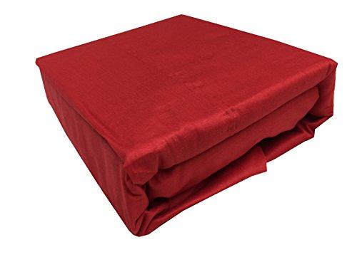 - STI Organic Cotton Sheets Twin, Cotton Sheets Twin Bed, Cotton Sheets Twin Size (Red)