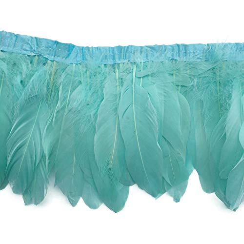 Sowder Duck Goose Feather Trim Fringe 2 Yards (Mint Green)