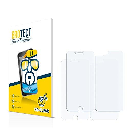 2x BROTECT Pellicola Protettiva Apple iPhone 8 Plus (Anteriore + Posteriore) Schermo Protezione – Trasparente, Anti-Impronte