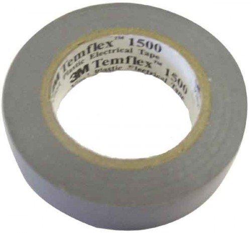 3 M tgra1925 TEMFLEX 1500 vinilo elé ctrico –  Cinta aislante, 19 mm x 25 m, 0,15 mm, gris 19mm x 25m 15mm 3M 7000062309