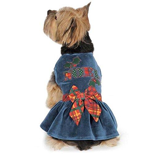 East Side Collection ESC Holly Days Velvet Noel Dog Dress