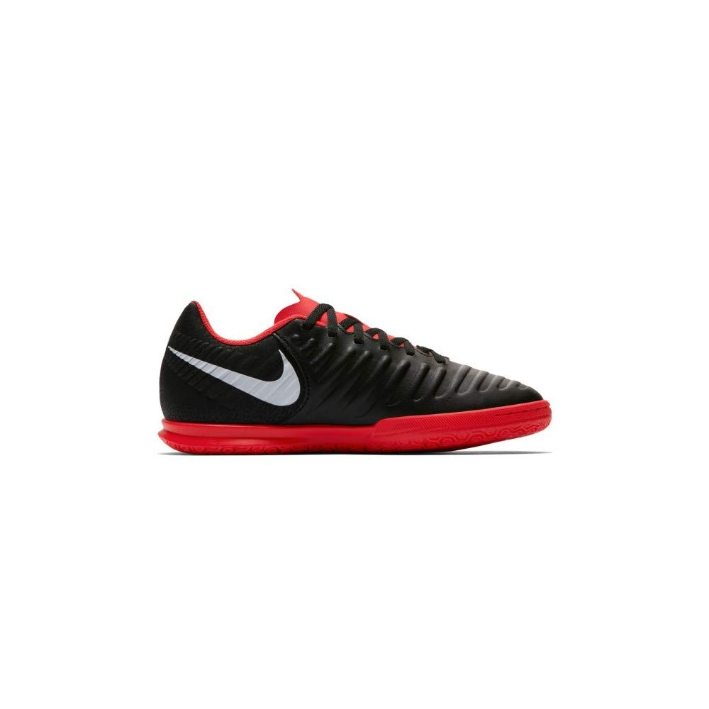 Nike Kids' Tiempo Legend 7 Club Indoor Soccer Shoes (4.5, Black/Red)