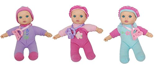 9.5 inch Bean Body Babies Caucasian Doll Outfit and Pacifier, Purple (Doll Bean)