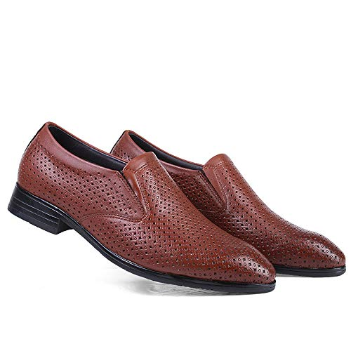 britannico formali Size amp;Baby Oxford scavate Of Color scarpe Resistente Code Brown Casual Cuoio all'abrasione Sunny 37 e Business EU Dimensione The Light Men's Hollow 6vXxnwqO