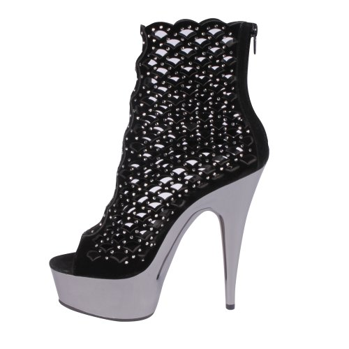 Pleaser - Botas mujer, color negro, talla 40