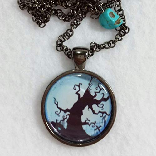 Halloween Jewelry Tree Witch Pendant Adjustable Size Necklace
