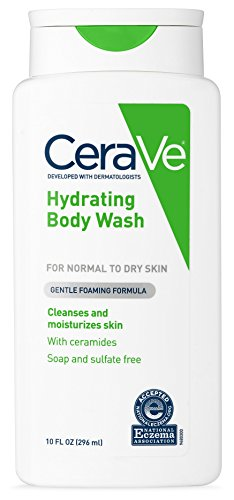 (CeraVe Body Wash for Dry Skin | 10 Ounce | Moisturizing Body Wash with Hyaluronic Acid | Sulfate & Fragrance Free)