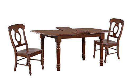 Sunset Trading DLU-TLB3660-C50-CT5PC Andrews Dining Set, Distressed Chestnut ()
