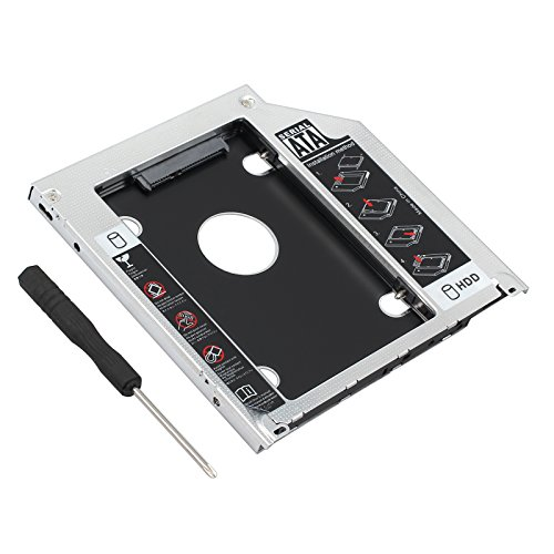 Proster 2.5 SATA Hard Drive Caddy Tray SSD HDD Hard Disk Internal for Apple MacBook Pro Unibody 13 15 17 SuperDrive DVD Drive