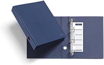 Miquelrius 20919 - Archivador nordic colors (cartón, 4 anillas tipo d de 40 mm diámetro) color marino: Amazon.es: Oficina y papelería
