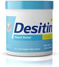 Desitin Rapid Relief Diaper Rash Remedy, Fragrance-Free Cream, 16 Oz