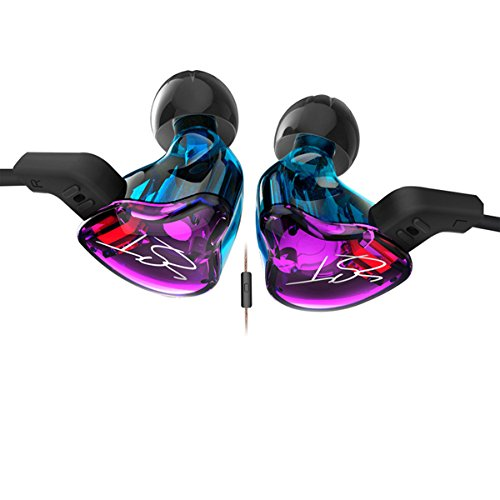 Driver Pro In Ear Earphones - MHC KZ ZST Dynamic Hybrid Dual Driver In Ear Earphones with mic (color)