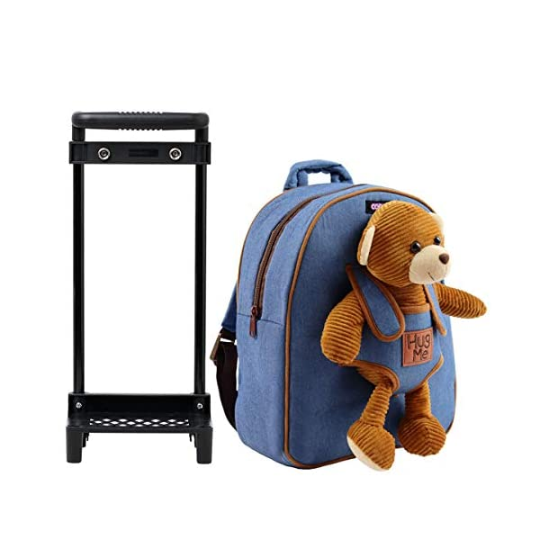 Zaino con Rotelle COOLDOT felpato dotato di animaletto di Peluche e Ruote Rimovibili - Adorabile Trolley per Bambini dai… 3 spesavip
