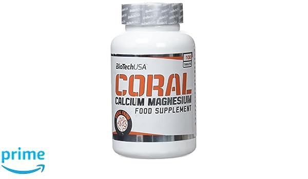 Biotech Coral Calcium + Magnesium, Vitaminas y Minerales - 100 Tabletas: Amazon.es: Salud y cuidado personal
