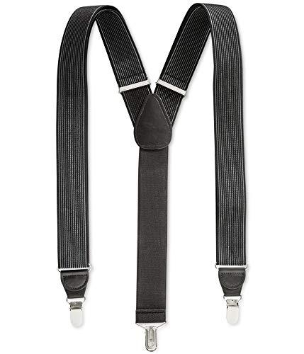 Club Room Mens Stripe Medium Suspenders Black One Size from Club Room
