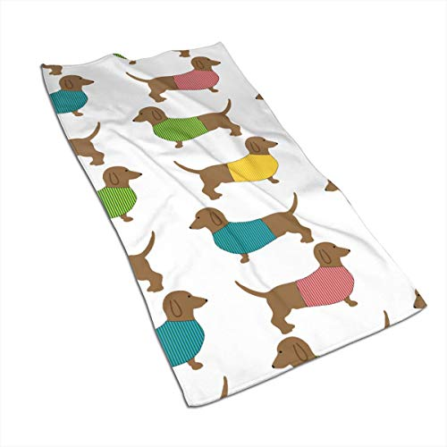 Fingertip Sports Towel - UGOPX Dachshund Dog Cute Wallpaper Super Soft, Machine Washable and Highly Absorbent,Towel(Wash Clothes, Face Towels, Fingertip Towels for Home, Gym or Sports