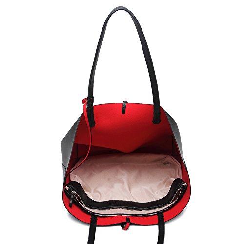 Shoulder For Holiday LeahWard® Handbag School Bags Shopper Women's College Black Large wEqESR