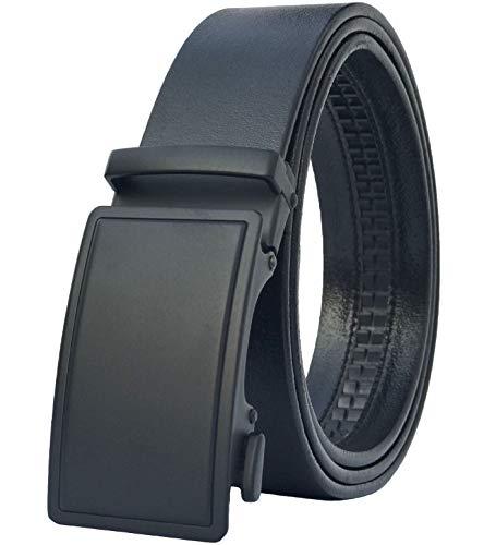 Men's Belt,West Leathers Slide Ratchet Belt for Men with Top Grain Leather,Trim to Fit
