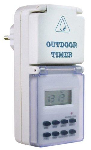 as - Schwabe  Outdoor Zeitschaltuhr digital, mit Wochenprogramm, IP44 - für Aussen, Aussenbereich, Draussen, Garten, Feuchtraum, Nassraum, Innenbereich, Innen 24033