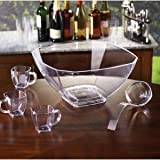 ''Squares'' 12 qt. Punch Bowl Clear /6