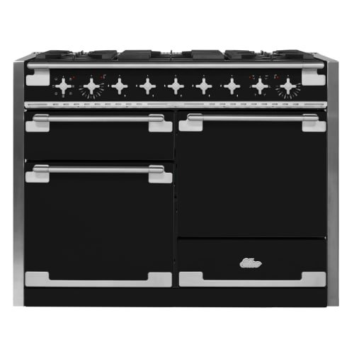 - AGA AEL48DF-MBL Elise Dual Fuel Range with 3 Separate Ovens, 48