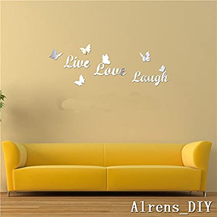 Amazon.com: Alrens_DIY(TM) Live Love Laugh Butteryfly DIY Acrylic ...
