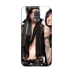 SherriFakhry Samsung Galaxy S5 Shock Absorption Hard Phone Cases Custom Lifelike Black Veil Brides Band BVB Image [eDl6350ZwFZ]
