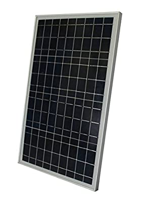WindyNation 30 Watt 30W Polycrystalline 12V 12 Volt Solar Panel Battery Charger - Boat RV Gate Off-Grid