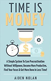 Time Money Procrastination Productive Productivity ebook product image