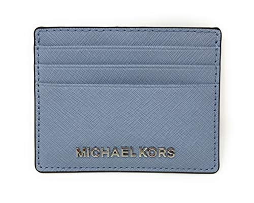 Michael Kors Jet Set Travel Large Saffiano Leather Card Holder (One Size, Pale ()