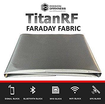TitanRF Faraday Fabric // EMI Shielding, RFID Shielding, Cell Phone Block, WiFi Block, Bluetooth Block. MILITARY GRADE SHIELDING FABRIC (44