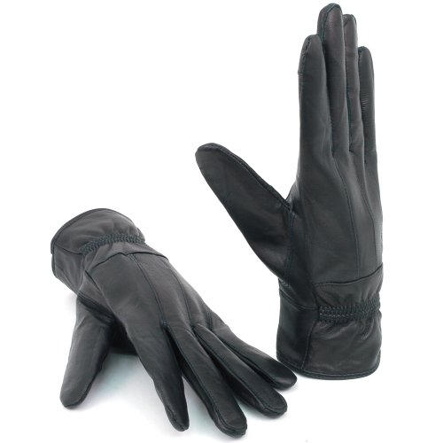 Black Leather Phone Alpine Texting Womens Touch Glove Swiss Gloves Warm Screen Thermal xwx61qaCXP