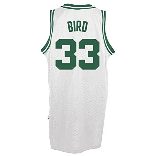best cheap a9b68 53c9e Boston Celtics Larry Bird adidas White Hardwood Classic ...