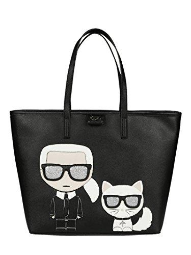 Karl Lagerfeld Borsa Shopping Donna 18KW3011BLACK Pvc Nero