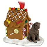 Chocolate Lab Retriever Gingerbread House Christmas Ornament by Conversation Concepts