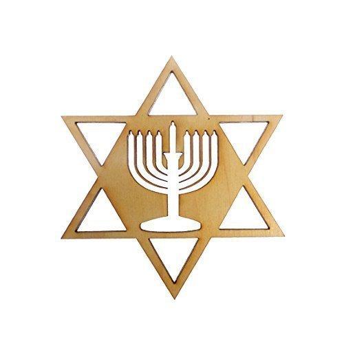 Menorah Ornaments- Star of David Ornament - Menorah Hanukkah Decoration - Hanukkah Ornaments - Hanukkah Gift - Hanukkah - Hanukkah Ornament