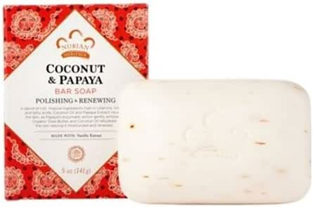 Nubian Heritage Soap Bar, Coconut and Papaya, 5 Ounce