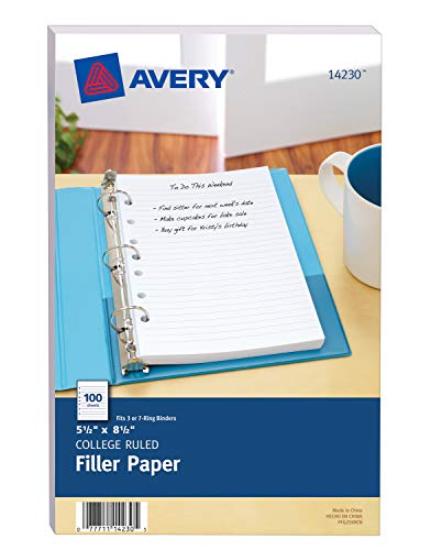 Avery 14230 Mini Binder Filler P...