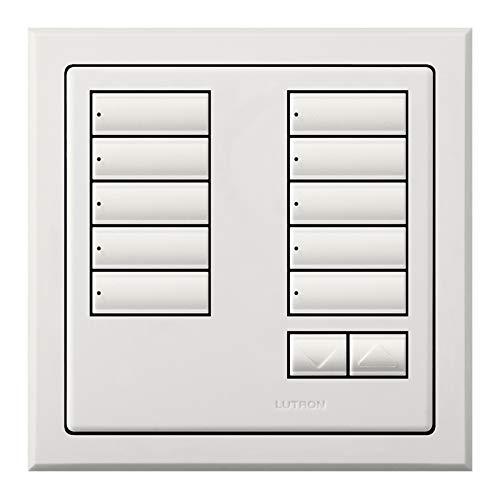 Lutron QSWE-10BRLI-AW Electrical Distribution Wall Plate
